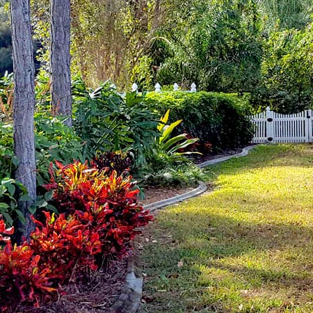 Florida assisted living landscaped grounds