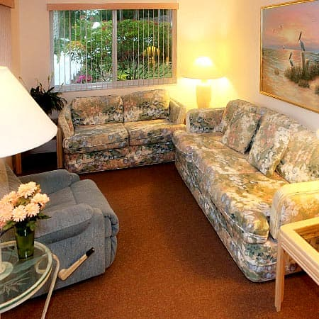 Comfortable Living Areas in Assisted Living Home